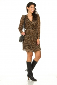Freebird |  Dress with leopard print Evia | brown  | Picture 3