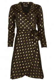 Freebird |  Midi dress with gold-colored dots Isaya | black  | Picture 1