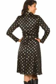 Freebird |  Midi dress with gold-colored dots Isaya | black  | Picture 5
