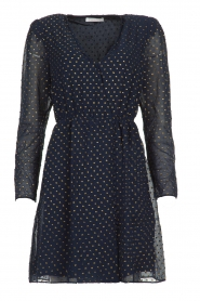 Freebird |  Dress with gold-colored dots Evia | blue  | Picture 1