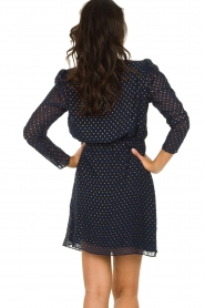 Freebird |  Dress with gold-colored dots Evia | blue  | Picture 5