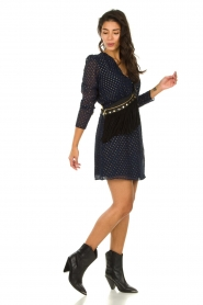 Freebird |  Dress with gold-colored dots Evia | blue  | Picture 6