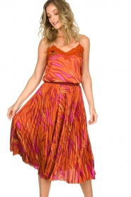 Dante 6 | Midi plissé skirt Eyo Animaux | multi  | Picture 3