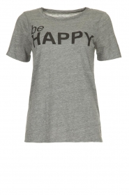 Chaser |  T-shirt with print Happy | grey  | Picture 1