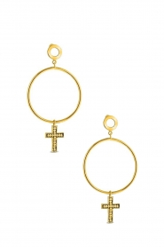 Close to Zen | 22K gold plated earrings Written In The Stars | gold  | Picture 1