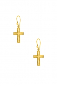 Close to Zen | 22K gold plated earrings Between Stars | gold  | Picture 1