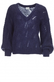 Dante 6 |  Knitted ajour sweater Eras | blue  | Picture 1