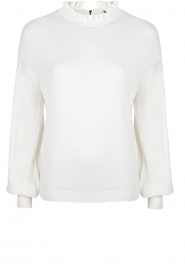 Dante 6 |  Sweater with ruffle turtleneck Theia | white  | Picture 1