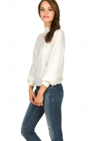 Dante 6 |  Sweater with ruffle turtleneck Theia | white  | Picture 4