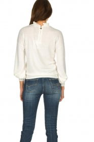 Dante 6 |  Sweater with ruffle turtleneck Theia | white  | Picture 5