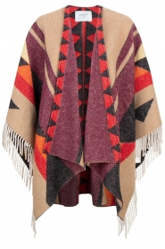 Dante 6 |  Print poncho with fringes Orade | multi
