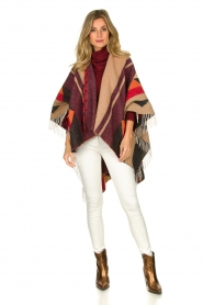 Dante 6 |  Print poncho with fringes Orade | multi  | Picture 7