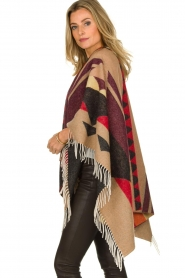 Dante 6 |  Print poncho with fringes Orade | multi  | Picture 5