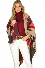 Dante 6 |  Print poncho with fringes Orade | multi  | Picture 6