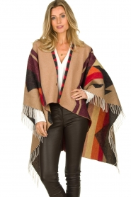 Dante 6 |  Print poncho with fringes Orade | multi  | Picture 2