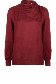 Dante 6 |  Leopard blouse with turtleneck Shay | burgundy  | Picture 1