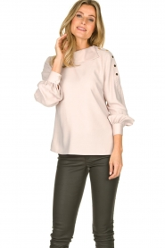 Dante 6 | Blouse with folded collar Toni | natural  | Picture 2