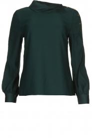 Dante 6 |  Blouse folded collar Toni | green  | Picture 1