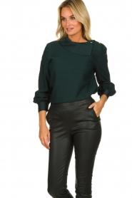 Dante 6 |  Blouse folded collar Toni | green  | Picture 2