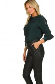 Dante 6 |  Blouse folded collar Toni | green  | Picture 4