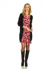 Dante 6 | Dress with leopard print Jelson | red  | Picture 3