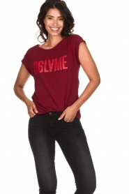 Dante 6 | T-shirt with text print Love Me | red  | Picture 2