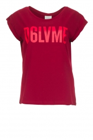Dante 6 | T-shirt with text print Love Me | red  | Picture 1
