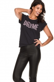 Dante 6 |  T-shirt with text print Love Me | black  | Picture 2