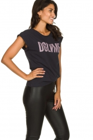 Dante 6 |  T-shirt with text print Love Me | black  | Picture 4