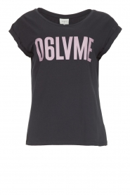 Dante 6 |  T-shirt with text print Love Me | black  | Picture 1