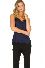Dante 6 | Top with lace Moanna | blue  | Picture 2