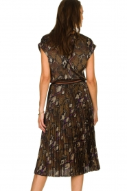 Dante 6 |  Top with snake print Trace | brown  | Picture 5