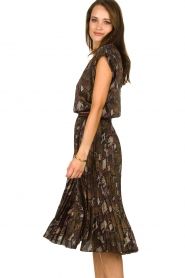 Dante 6 |  Top with snake print Trace | brown  | Picture 4