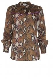 Dante 6 | Blouse with snake print Faith | dierenprint  | Picture 1
