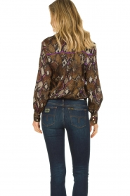 Dante 6 | Blouse with snake print Faith | dierenprint  | Picture 6