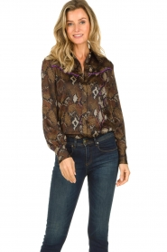 Dante 6 : Blouse with snake print Faith | dierenprint - img2