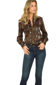 Dante 6 : Blouse with snake print Faith | dierenprint - img4