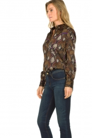 Dante 6 | Blouse with snake print Faith | dierenprint  | Picture 5