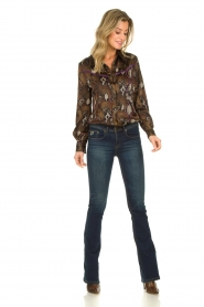 Dante 6 | Blouse with snake print Faith | dierenprint  | Picture 3