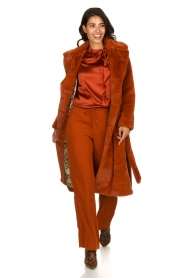 Dante 6 | Silk blouse Anaise | rust brown  | Picture 3