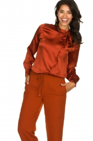 Dante 6 | Silk blouse Anaise | rust brown  | Picture 2