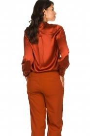 Dante 6 | Silk blouse Anaise | rust brown  | Picture 5