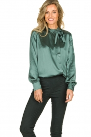 Dante 6 | Silk blouse Anaise | groen  | Picture 2
