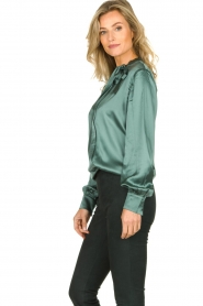 Dante 6 | Silk blouse Anaise | groen  | Picture 4