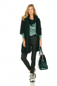 Dante 6 | Silk blouse Anaise | groen  | Picture 3