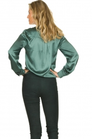 Dante 6 | Silk blouse Anaise | groen  | Picture 5