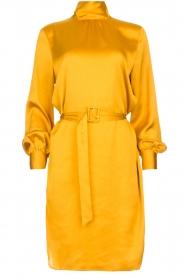 Dante 6 |  Dress with belt Leto | ocher yellow  | Picture 1