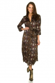 Dante 6 |  Dress with snake print Poween | brown  | Picture 3