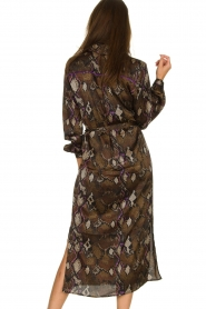 Dante 6 |  Dress with snake print Poween | brown  | Picture 6