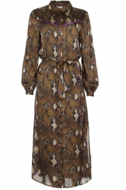Dante 6 |  Dress with snake print Poween | brown  | Picture 1